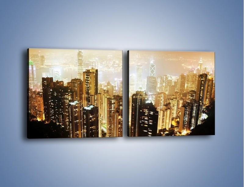 Obraz na płótnie – Miasto widziane z góry – dwuczęściowy kwadratowy poziomy AM007