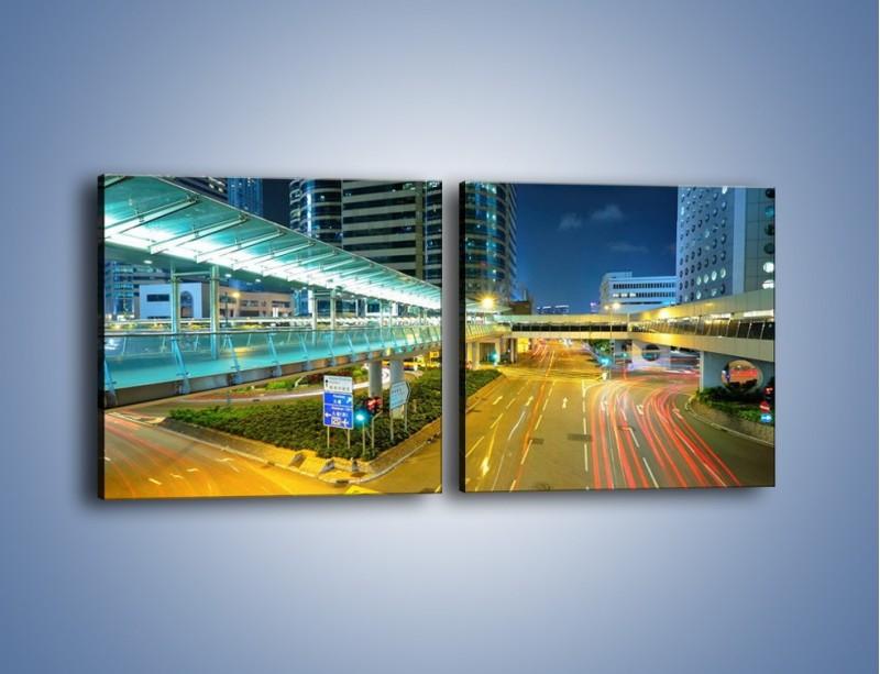 Obraz na płótnie – Droga na lotnisko w Japonii – dwuczęściowy kwadratowy poziomy AM088