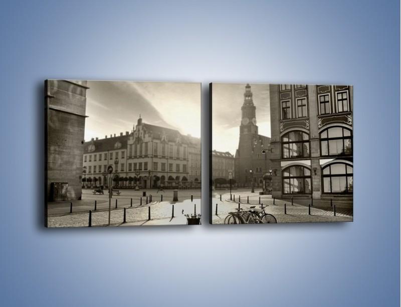 Obraz na płótnie – Rynek Starego Miasta – dwuczęściowy kwadratowy poziomy AM136