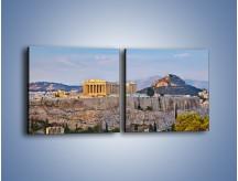 Obraz na płótnie – Ateńskie ruiny – dwuczęściowy kwadratowy poziomy AM162