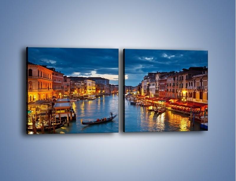 Obraz na płótnie – Wenecja romantyczną porą – dwuczęściowy kwadratowy poziomy AM163