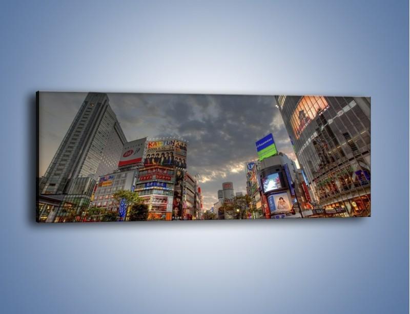 Obraz na płótnie – Uliczny tłok w Tokyo – jednoczęściowy panoramiczny AM312