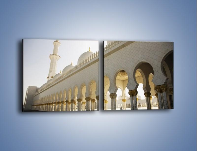Obraz na płótnie – Bliskowschodnia architektura – dwuczęściowy kwadratowy poziomy AM177