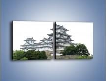 Obraz na płótnie – Azjatycka architektura – dwuczęściowy kwadratowy poziomy AM181