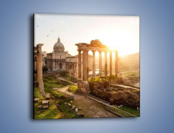 Obraz na płótnie – Starożytna architektura Rzymu – jednoczęściowy kwadratowy AM638
