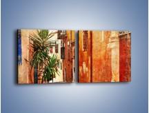 Obraz na płótnie – Ciasna uliczka w stylu vintage – dwuczęściowy kwadratowy poziomy AM263