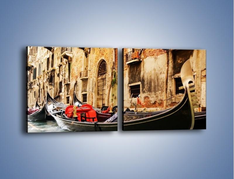 Obraz na płótnie – Wenecka gondola – dwuczęściowy kwadratowy poziomy AM286