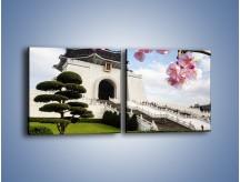 Obraz na płótnie – Azjatycka architektura – dwuczęściowy kwadratowy poziomy AM299