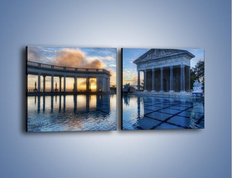Obraz na płótnie – Neptune pool w Kalifornii – dwuczęściowy kwadratowy poziomy AM320