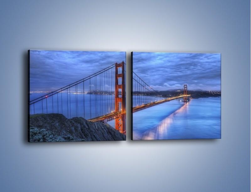 Obraz na płótnie – Most Golden Gate – dwuczęściowy kwadratowy poziomy AM328