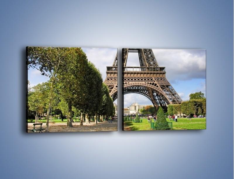 Obraz na płótnie – Wieża Eiffla – dwuczęściowy kwadratowy poziomy AM340
