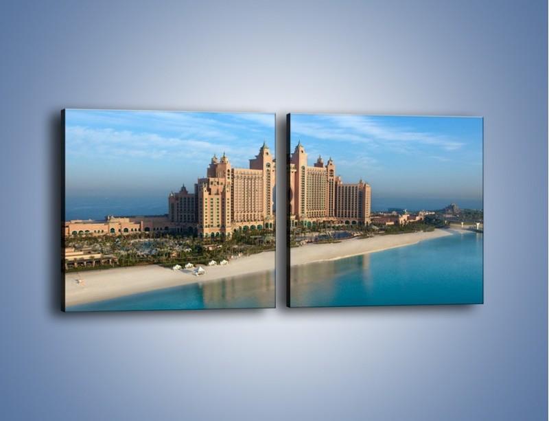 Obraz na płótnie – Atlantis Hotel w Dubaju – dwuczęściowy kwadratowy poziomy AM341