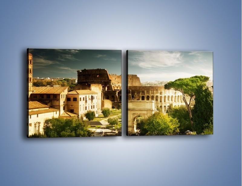 Obraz na płótnie – Ruiny starożytnego Rzymu – dwuczęściowy kwadratowy poziomy AM357