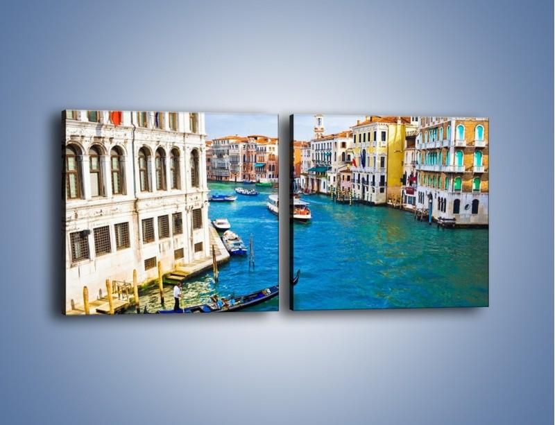 Obraz na płótnie – Kolorowy świat Wenecji – dwuczęściowy kwadratowy poziomy AM362