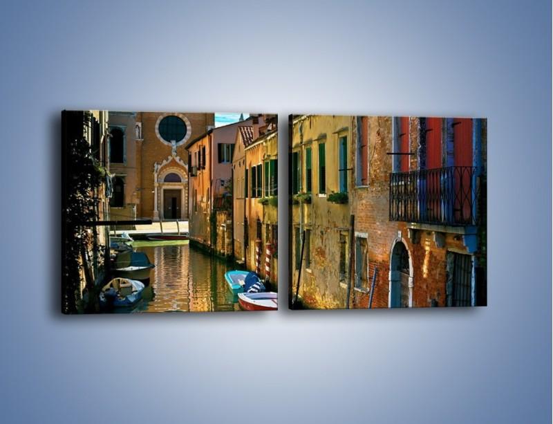Obraz na płótnie – Cały urok Wenecji w jednym kadrze – dwuczęściowy kwadratowy poziomy AM371