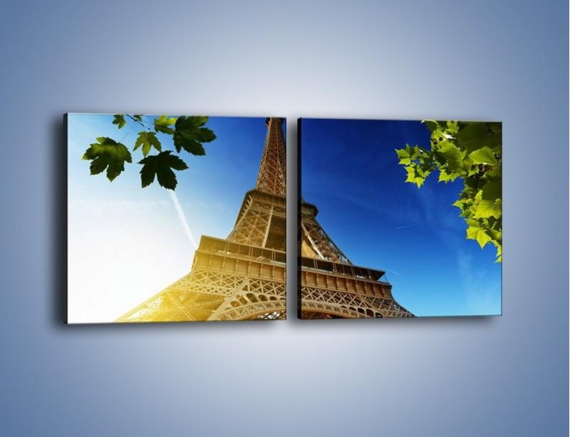 Obraz na płótnie – Wieża Eiffla w pełnej krasie – dwuczęściowy kwadratowy poziomy AM372