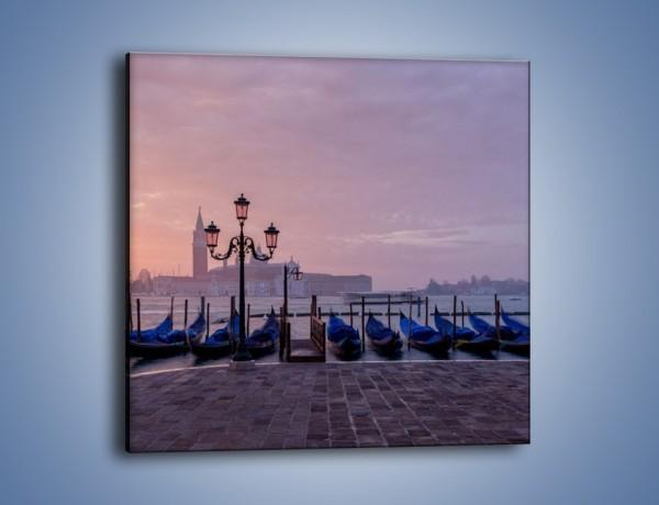 Obraz na płótnie – Weneckie gondole wczesnym rankiem – jednoczęściowy kwadratowy AM640