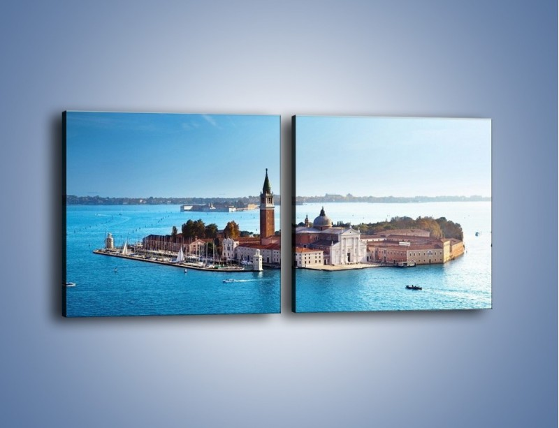 Obraz na płótnie – Wyspa San Giorgio Maggiore – dwuczęściowy kwadratowy poziomy AM380