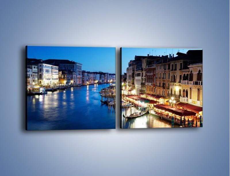 Obraz na płótnie – Zmierzch nad Wenecją – dwuczęściowy kwadratowy poziomy AM389