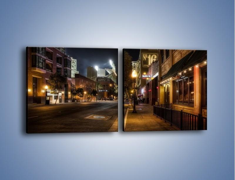 Obraz na płótnie – Ulica San Diego w Kaliforni – dwuczęściowy kwadratowy poziomy AM390