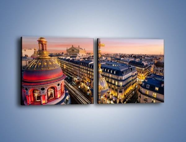 Obraz na płótnie – Paryska architektura – dwuczęściowy kwadratowy poziomy AM402