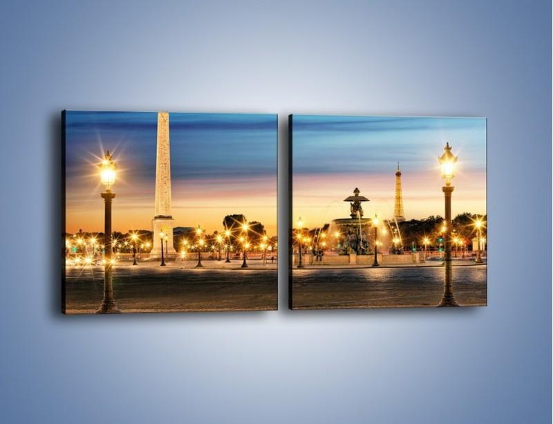 Obraz na płótnie – Place de la Concorde w Paryżu – dwuczęściowy kwadratowy poziomy AM404