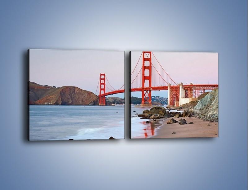 Obraz na płótnie – Most Golden Gate – dwuczęściowy kwadratowy poziomy AM406