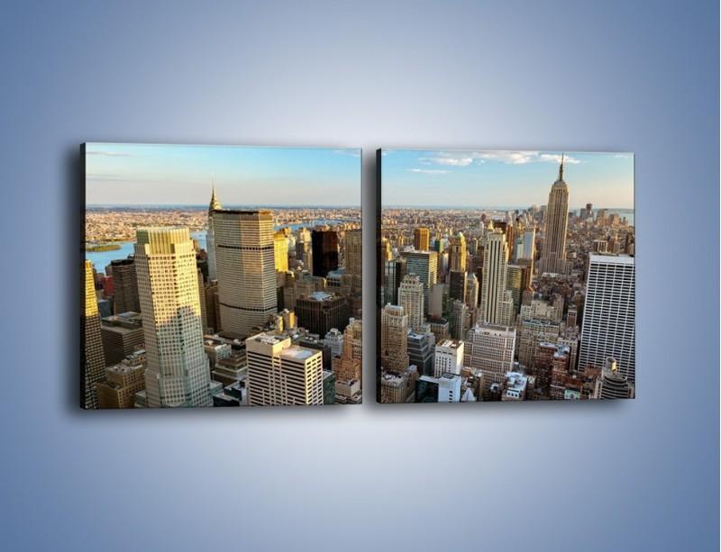 Obraz na płótnie – Manhattan w Nowym Yorku – dwuczęściowy kwadratowy poziomy AM412