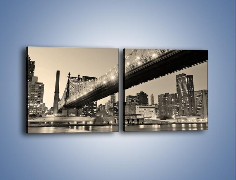 Obraz na płótnie – Most Qeensboro w Nowym Yorku – dwuczęściowy kwadratowy poziomy AM438