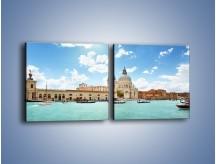 Obraz na płótnie – Canal Grande w Wenecji – dwuczęściowy kwadratowy poziomy AM449