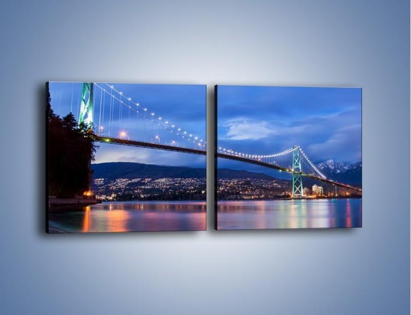 Obraz na płótnie – Most Lions Gate w Vancouver – dwuczęściowy kwadratowy poziomy AM471