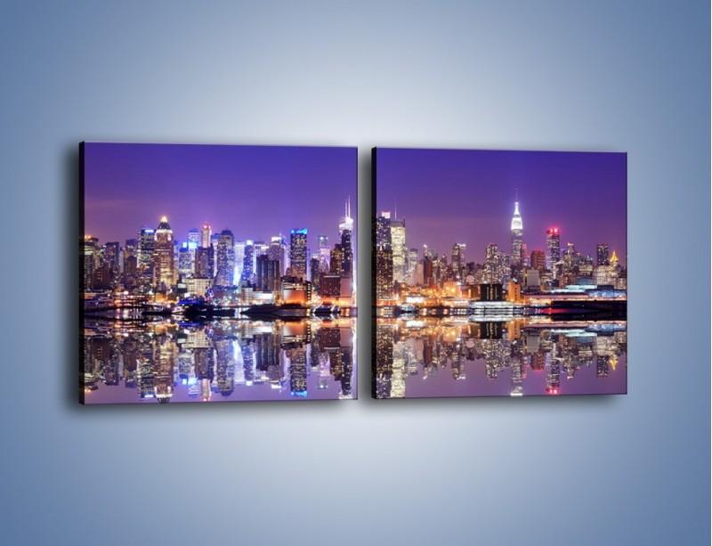 Obraz na płótnie – Panorama Midtown Manhattan – dwuczęściowy kwadratowy poziomy AM492