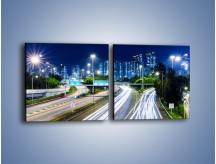 Obraz na płótnie – Autostrada prowadząca do Hong Kongu – dwuczęściowy kwadratowy poziomy AM504