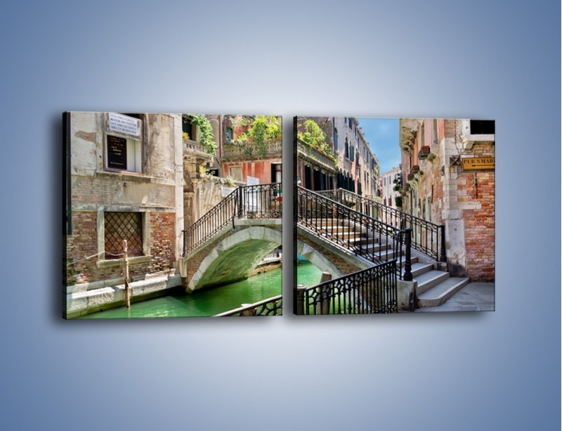 Obraz na płótnie – Wenecki most – dwuczęściowy kwadratowy poziomy AM523