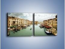 Obraz na płótnie – Cieśnina Canal Grande w Wenecji – dwuczęściowy kwadratowy poziomy AM559