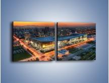 Obraz na płótnie – Centrum kongresowe CNCC w Chinach – dwuczęściowy kwadratowy poziomy AM575