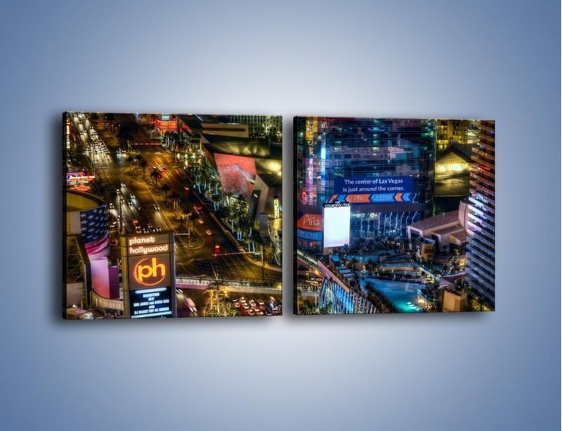 Obraz na płótnie – Cosmopolitan of Las Vegas – dwuczęściowy kwadratowy poziomy AM577