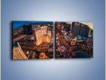Obraz na płótnie – Centrum Las Vegas – dwuczęściowy kwadratowy poziomy AM588
