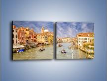Obraz na płótnie – Canal Grande w Wenecji o poranku – dwuczęściowy kwadratowy poziomy AM617