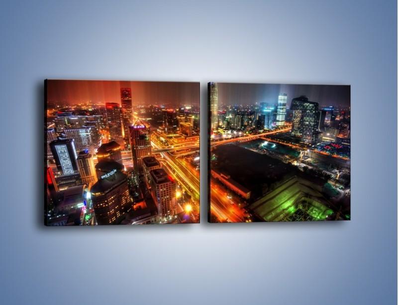 Obraz na płótnie – Niesamowite kolory Pekinu – dwuczęściowy kwadratowy poziomy AM632