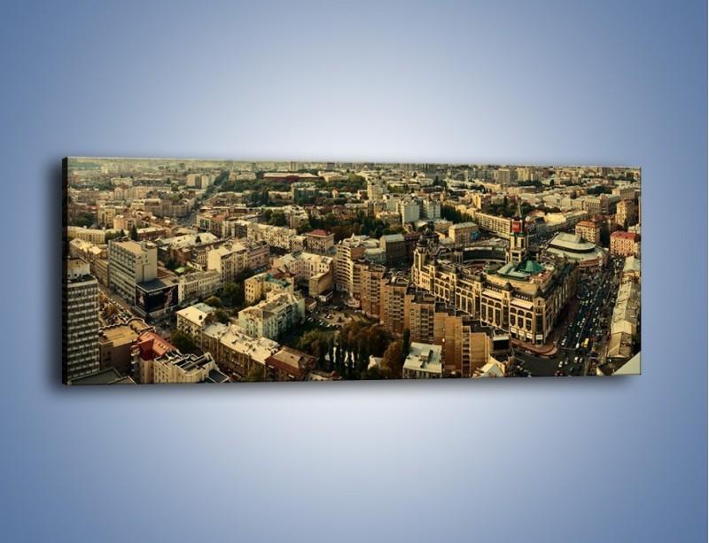 Obraz na płótnie – Panorama Kijowa – jednoczęściowy panoramiczny AM326