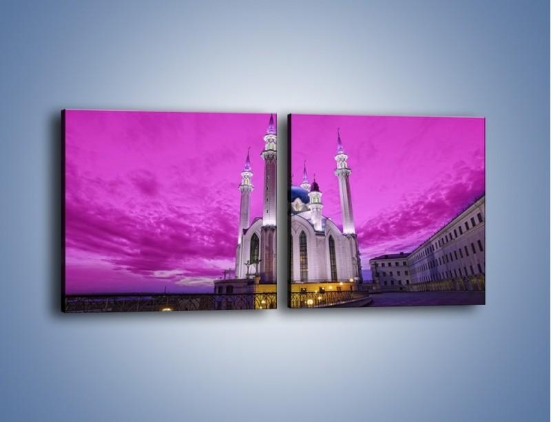 Obraz na płótnie – Meczet Kul Szarif – dwuczęściowy kwadratowy poziomy AM642