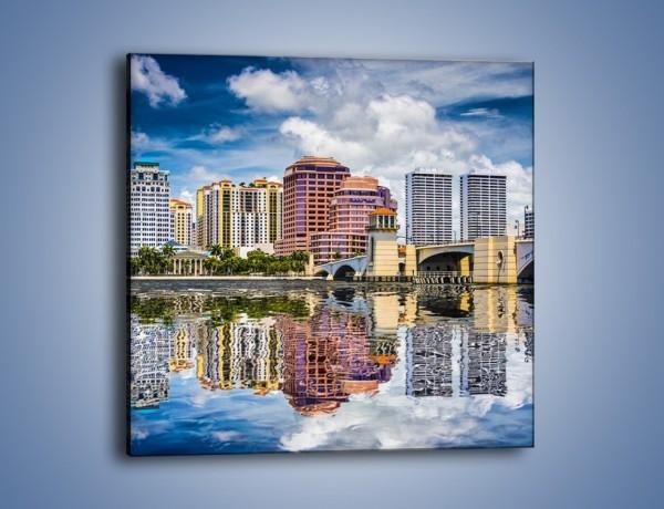 Obraz na płótnie – West Palm Beach na Florydzie – jednoczęściowy kwadratowy AM646