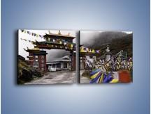Obraz na płótnie – Brama do miasta Tawang w Tybecie – dwuczęściowy kwadratowy poziomy AM689