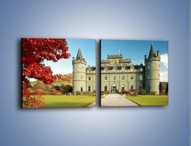 Obraz na płótnie – Zamek Inveraray w Szkocji – dwuczęściowy kwadratowy poziomy AM691
