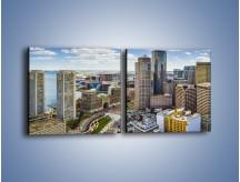 Obraz na płótnie – Boston w stanie Massachusetts – dwuczęściowy kwadratowy poziomy AM700