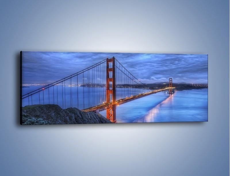Obraz na płótnie – Most Golden Gate – jednoczęściowy panoramiczny AM328