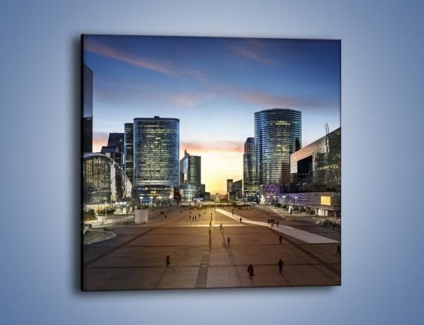 Obraz na płótnie – Quartier La Défense w Paryżu – jednoczęściowy kwadratowy AM647