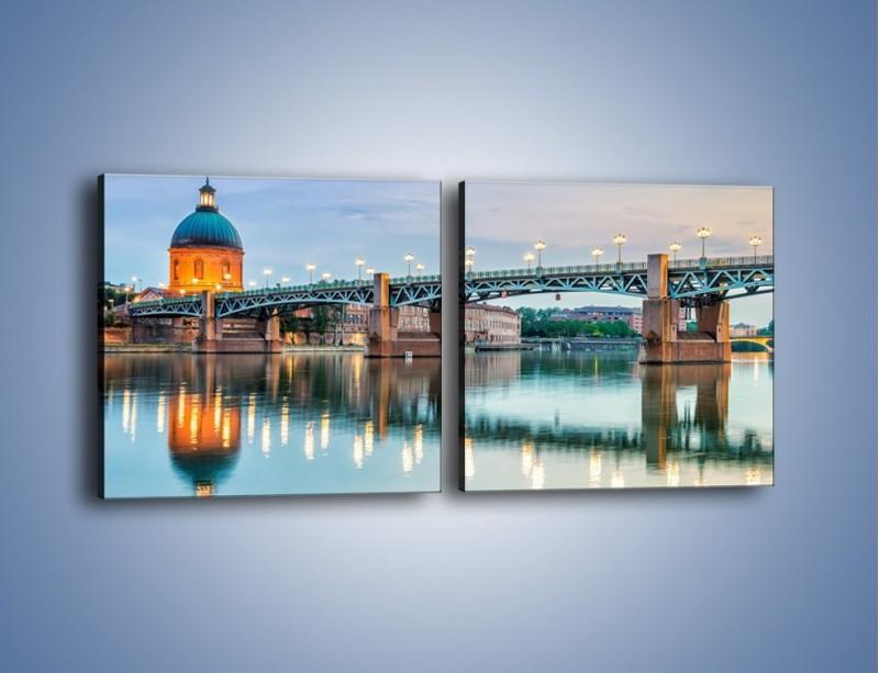 Obraz na płótnie – Most Saint-Pierre w Tuluzie – dwuczęściowy kwadratowy poziomy AM721
