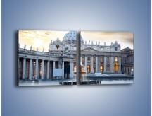Obraz na płótnie – Bazylika św. Piotra w Watykanie – dwuczęściowy kwadratowy poziomy AM722